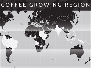 coffee growing region poster