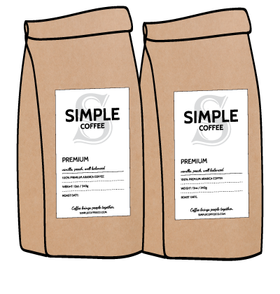 Simple Coffee 2 Bag Subscription