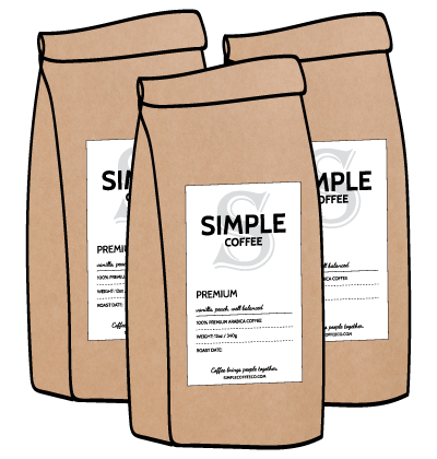 Simple Coffee Subscription 3 Bags a Month